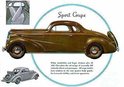 Primary image for 1937 Chevrolet Sport Coupe - Promotional Advertising Poster