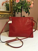 New Coach Hippie Crossbody Bag Madison 51011 Leather Convertible Scarlet... - $118.79