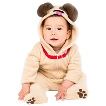 Baby Little Puppy Infant Dog Plush Jumpsuit Halloween Costume Size 6-12 ... - €18,25 EUR