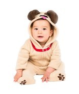 Baby Little Puppy Infant Dog Plush Jumpsuit Halloween Costume Size 6-12 ... - $20.56