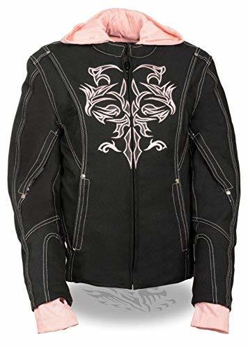 Primary image for Milwaukee WOMEN'S MOTORCYCLE RIDING BLACK PINK TEXTILE JACKET W REFLECTIVE TRIBA
