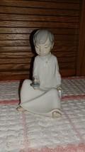 Zaphir Lladro porcelain Figurine - Boy with Can... - $31.57