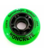8x 76mm Koncrete Inline Skate Wheels outdoor rollerblade hockey asphalt ... - $39.99