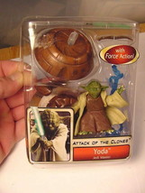 2002 Star Wars AOTC Yoda Jedi Master Lse Comp Unused Hasbro Attack Of Th... - $5.90