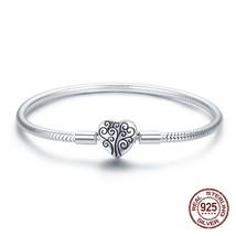 fi Pandora beads pendan 925 serling silver hear-shaped life ree charm br... - $60.22