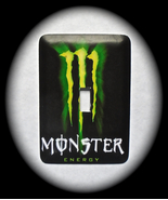 Monster Energy Metal Switch Plate Cover Pop Culture Soda - $9.50