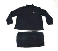 Vtg 90s Nautica Competition Mens Large Spell Out 2 Piece Fleece Sweatshi... - $96.97