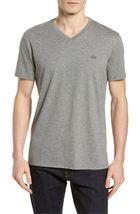 Lacoste Men's Premium Pima Cotton V-Neck Sport Shirt T-Shirt Tonal Croc image 8