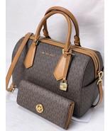 6708fa9a2fbb Michael Kors Hayes Large Duffle Crossbody Satchel Bag In Brown+ Fulton... -   290.00