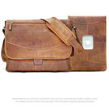 "MacCase Premium Leather Shoulder Bag / 13"" MacBook Pro Sleeve Bundle - $349.95"