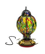 Best Home Products Hummingbird Feeder with Perch - Hand-Blown Glass Feed... - $36.23
