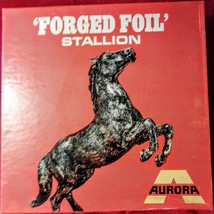 VERY RARE!! VINTAGE 1969 AURORA FORGED FOIL STALLION PLASTIC MODEL KIT MIB - $98.01