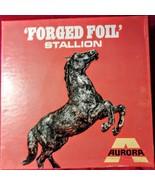 VERY RARE!! VINTAGE 1969 AURORA FORGED FOIL STALLION PLASTIC MODEL KIT MIB - $98.01