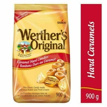 Werther's Original Caramels Hard Candy 900g/ 2LBS Large Canada Fresh Delicious - $18.66