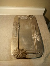 OLD TOWN IMPORTS ALUMINUM TRAY--PALM TREES--10 X 20-----FREE SHIP-VGC - $42.48