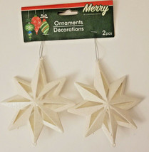Christmas Snowflake Glitter Ornaments 2ct w - $5.49