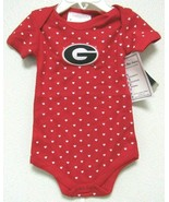 NCAA Georgia Bulldogs Lap Shoulder Heart Creeper Circle G Logo Two Feet ... - $21.95