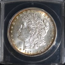 1878 7 over 8 Tail Feathers Strong VAM 37 7/4 Variety Morgan Silver Dollar - $235.95