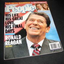 PEOPLE Magazine June 21 2004 Ronald Reagan 1911-2004 Jennifer Lopez Marc Anthony - $9.49