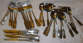 Rogers Stainless Flatware Korea Unknown Pattern 38 Pieces - $39.59