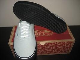 Vans Authentic Mens Black Outsole Mint Green Canvas Skate shoes Size 8 NWT - $49.48