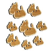Delightful Cartoon Scottish Terrier Wood Buttons for Sewing Knitting Cro... - $9.99