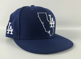 Los Angeles Dodgers Baseball Hat New Era 59Fifty Blue CA Outline Size 7 1/2 - $49.49