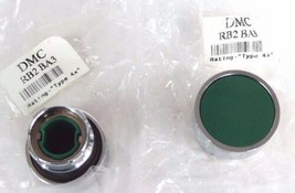 LOT OF 2 NEW DANFOSS DMC RB2BA3 GREEN PUSHBUTTONS RB2-BA3