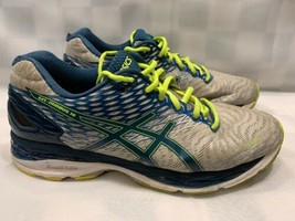 ASICS Gel Nimbus 18 Running Men's Shoes Size 10 Silver Yellow T600N - $44.54