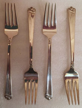 """BRIGHT FUTURE PATTERN 1954 HOLMES /& EDWARD IS  *** 4 DINNER FORKS *** 7 1//2/"""""""