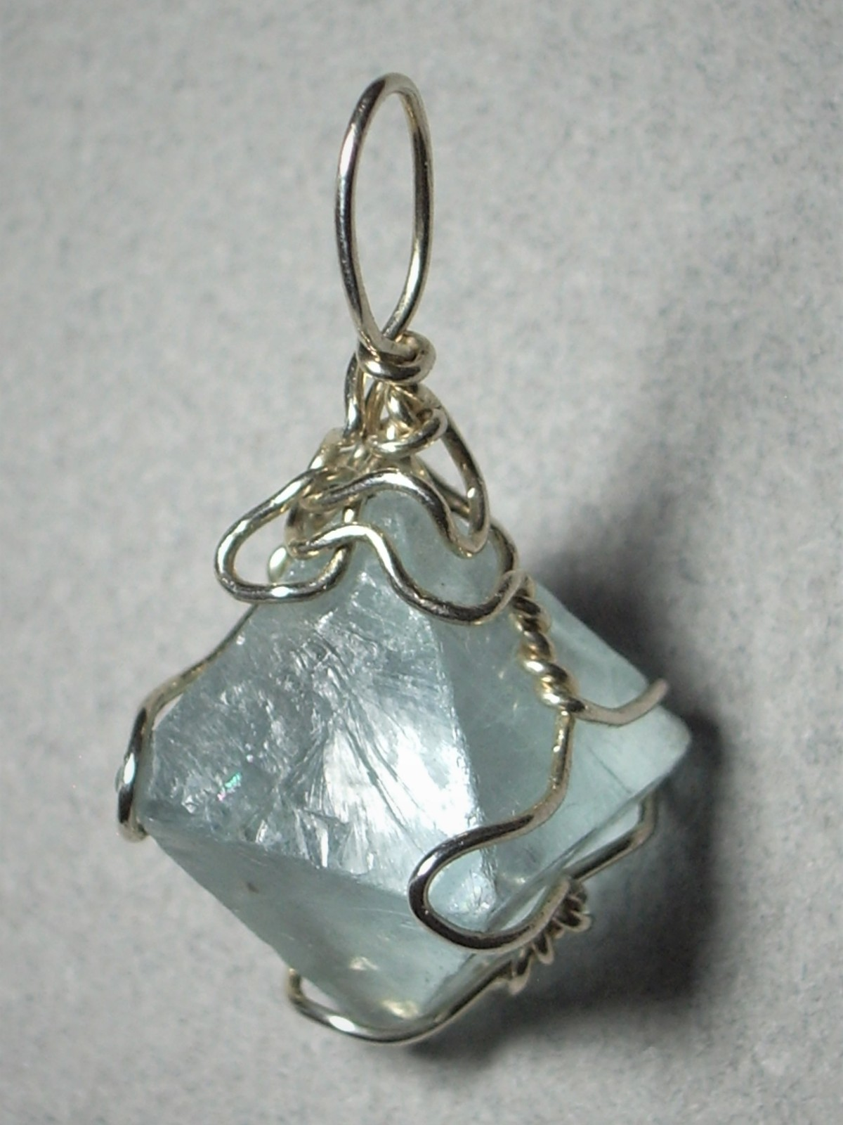 Primary image for .925 SS Wire Wrapped Fluorite Crystal Pendant by Jemel