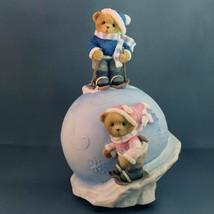 Cherished Teddies Musical Globe Havin a Snowball 4004846 Jingle Bells Av... - $56.31