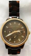 Michael Kors MK5038 Tortoise Band Wrist Watch For Women Store Display No Box - $26.55