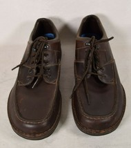 Rockport Mens Shoes Leather Eureka Walking Sneakers Brown 12 M - $39.60
