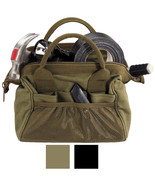 Canvas Work Tool Bag, Wide-Mouth Large Storage Heavy Duty Carry Tote - $19.99