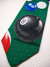 ADDICTION  Behind the 8 BALL  Mens 100  Necktie 8-1231B - $8.99