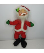 "Vintage 80s Annalee Mobilitee Santa Claus Christmas Doll 18"" - $29.66"