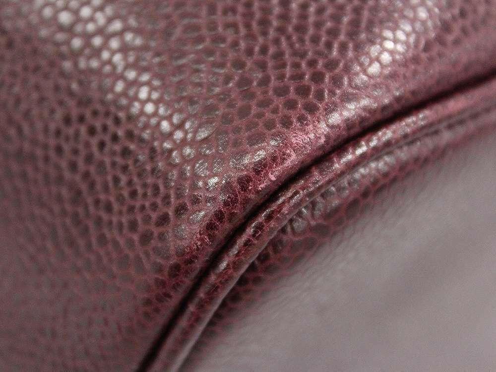 CHANEL Vanity Bag CC Logo Caviar Leather Bordeaux A01997 Italy Authentic 5445042