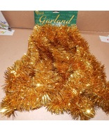Christmas Garland 18 Feet Youngcraft USA Decorative Accents Shiny Gold 148W - $7.49