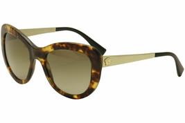 Versace Women's VE4325 4325 5208/13 Havana/Gold Cat Eye Sunglasses 54mm - $376.20