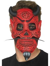 Day of the Dead Devil Mask, Adult, Mexican Day of The Dead/Sugar Skulls - $7.43