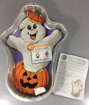 Wilton Haunted Pumpkin Aluminum Cake Pan 2105-3070 1998 w Instructions H... - $25.97