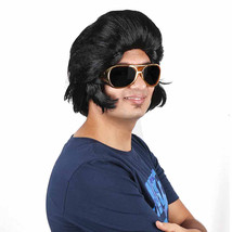 Elvis Presley Synthetic Hair Pompadour Rock And Roll Cosplays Costume Party Wigs - $35.63