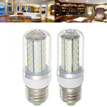 E27 5W SMD3014 120LEDs Warm White Pure White Corn Light Bulb AC85-265V - $10.24