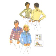 1970s Vintage Simplicity Sewing Pattern 7051 Mens Western Shirt Embroide... - $8.95