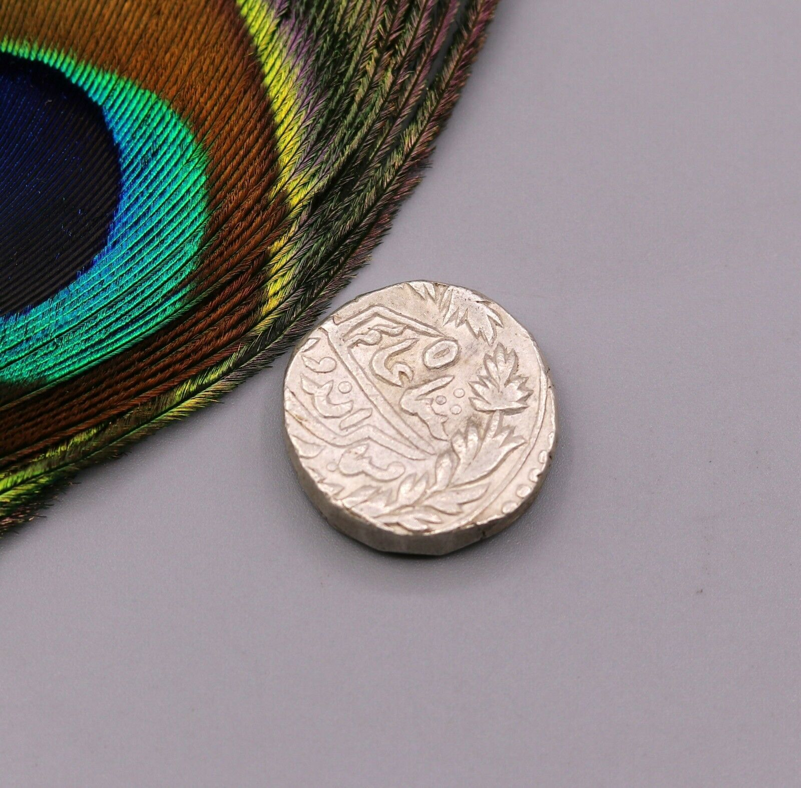 HANDMADE SOLID SILVER COIN GINNY SUM PATTERN PRINT JEWELRY MAKING COIN  cn14