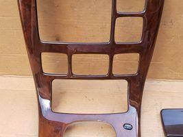 00-02 Mercedes C215 CL500 Shifter Radio Climate Control Trim Bezel Wood Wooden image 3
