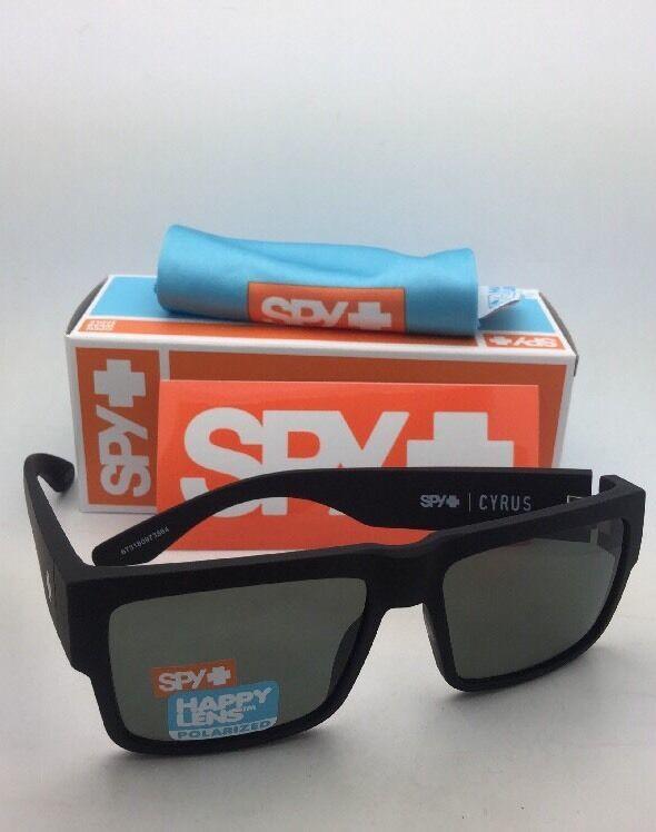 Polarisiert Spy Optic Sonnenbrille Cyrus Weich Matt Schwarz Rahmen W / Happy image 11