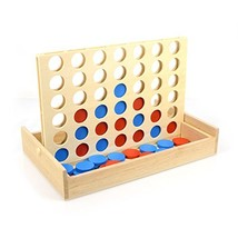 IAMGlobal 4 in a Row. Four in a Row Wooden Game, Line Up 4, Classic Family Toy,  - $15.48