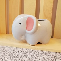 """Air Plant in Animal Planter, 4"""" ceramic, Live Airplant, Emmy the Elephant pot image 2"""